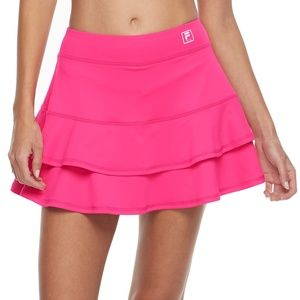 Nike Dri Fit Bright Pink Skirt Skort Tiered Ruffle